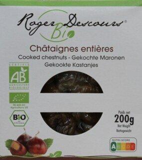 Châtaignes cuites et pelées Bio- 200 g/