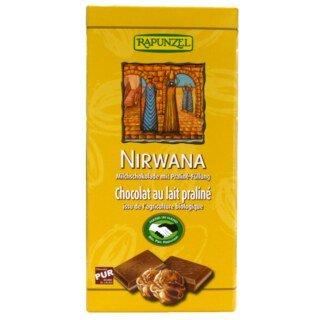 Nirwana Milchschokolade mit Praliné-Füllung - Bio - 100 g/