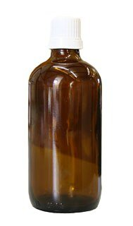 Brown glass bottles, 100 ml with closure and dropper U2