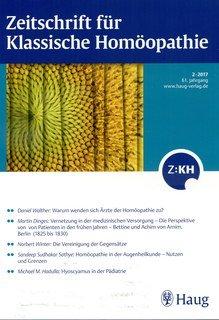 Zeitschrift für Klassische Homöopathie 2017/2/ZKH