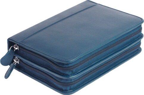 120er Taschenapotheke leer - OMEO - Rindnappa-Leder blau/