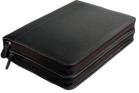 120 - Remedy case in high-quality cowhide - green/