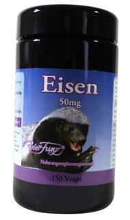 Eisen für Tiger 50 mg - von Robert Franz - 150 Kapseln