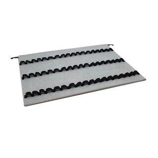 Schlaufentablett mit Schienen für Ø 1,3-1,5 cm Phiolen 3 x 18 Schlaufen, grau/