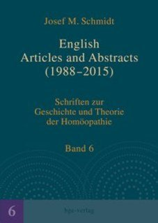 English Articles and Abstracts (1988-2015), Josef M. Schmidt