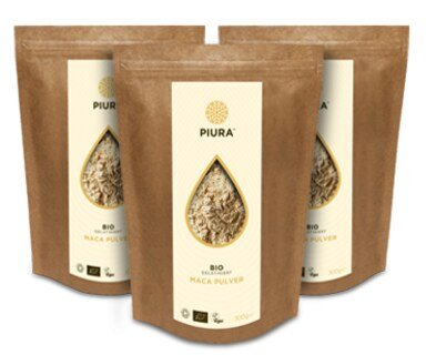 Poudre de racine de maca bio gélatinisée - 3 x 300 g/