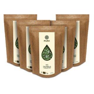 Chlorella bio en comprimés, Piura - 5 x 250 g/