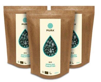Spirulina Tabletten Bio Piura - 3 x 250 g