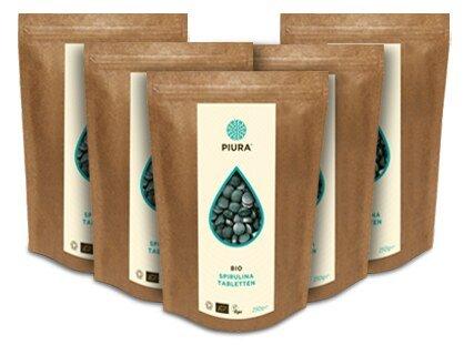 Spirulina Tablets Organic Piura - 5 x 250 g/