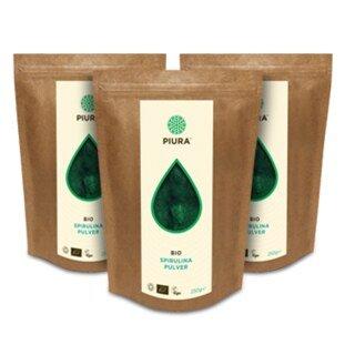 Poudre de spiruline Bio PIURA  3 x 250 g/