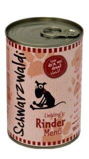 Schwarzwaldi Liebling's Rind Menu - boite 400 g - repas pour chien au boeuf/