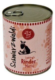 Schwarzwaldi Favourite Beef Meal can - 800 g - Dog Food/