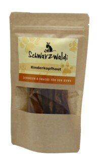 Friandise pour chien en peau de tête de bovin Schwarzwaldi - 5 pièces