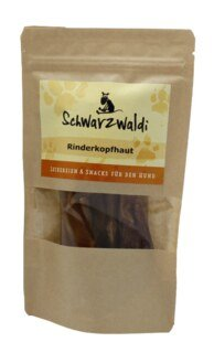 Schwarzwaldi Beef Scalp - 6 pieces - Dog Food Supplement (snack to nibble)