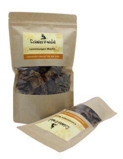 Dés de poumon d'agneau - Schwarzwaldi - complément alimentaire pour chien en friandise, 150 g/