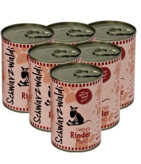 Schwarzwaldi Favourite Beef Meal can - 6 x 400 g - Dog Food/