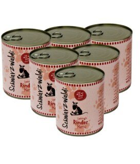 Schwarzwaldi Favourite Beef Meal can - 6 x 800 g - Dog Food/