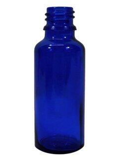 Flacon en verre bleu 30 ml avec bouchon et goutte à goutte lent - 1 pièces/