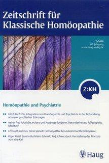 Zeitschrift für Klassische Homöopathie 2018/2 Psychiatrie/ZKH