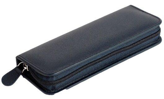 30er Taschenapotheke leer - Rindleder blau/