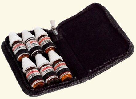 6er Taschenapotheke für große DHU-Flaschen, echtleder - Ohne Gläser