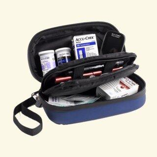 Diabetikertasche Kompakt, blau