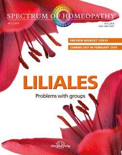 Spectrum of Homeopathy 2019-1, Liliales Series-E-Book, Narayana Verlag