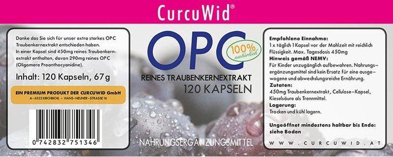 OPC reines Traubenkernextrakt - 120 Kapseln
