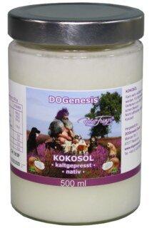 Kokosöl kaltgepresst nativ - DOGenesis - von Robert Franz - 500 ml/