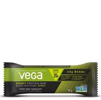 Vega Sport® Protein Bar Crispy Mint Chocolate - Einzelriegel 70 g . Sonderangebot wegen kurzem Mindesthaltbarkeitsdatum/