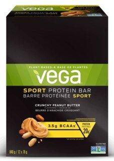 Vega Sport® Protein Bar Crunchy Peanut Butter - 12 x 70 g/