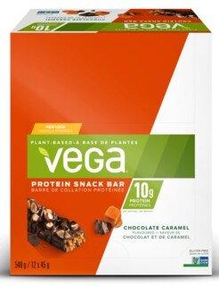 Vega® Protein Snack Bar Chocolat Caramel - 12 x 45 g