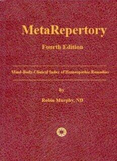 Robin Murphy: MetaRepertory - 4th Edition