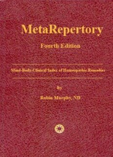MetaRepertory - 4th Edition/Robin Murphy