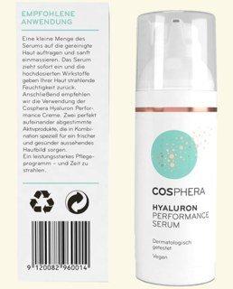 Hyaluron Performance Serum von Cosphera - Hochdosiert - 50 ml