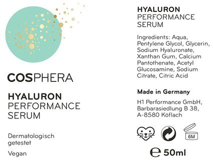 Hyaluron Performance Serum from Cosphera - high-dose - 50 ml