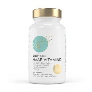 Haar Vitamine von Cosphera - Hochdosiert - 120 vegane Kapseln/