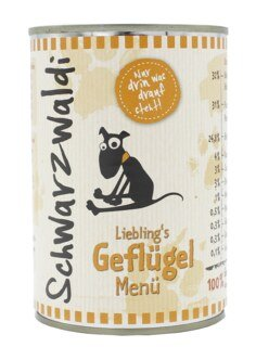 Schwarzwaldi Lieblings´s Geflügel Menü Dose - 400 g Hundefutter