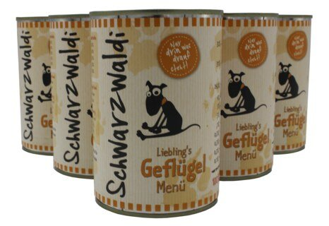 Schwarzwaldi Favourite Poultry Meal can - 6 x 400 g Dog Food/