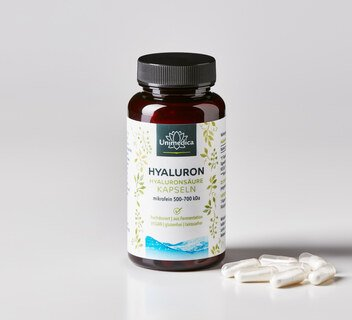 Hyaluron  Hyaluronic Acid Capsules, microfine 500-700 kDa - high-dose - by Unimedica - 90 capsules