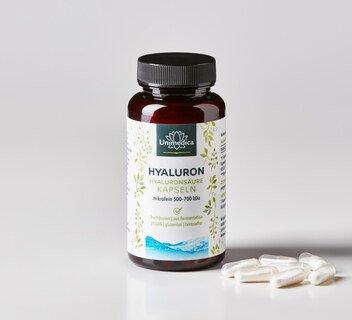 Hyaluronsäure - 360 mg - mikrofein 500-700 kDa - hochdosiert - 90 Kapseln - von Unimedica