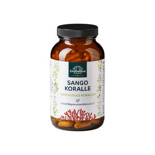 Sango Koralle - 100 % Fossile Korallen - 1100 mg - 180 Kapseln - von Unimedica/