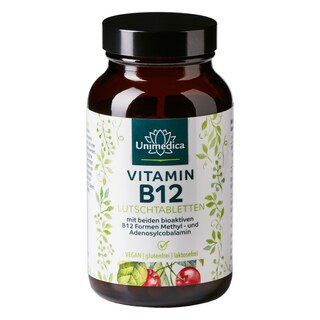Pastilles de vitamine B12 - 100 comprimés à sucer - Unimedica/
