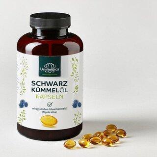 Schwarzkümmelöl Softgelkapseln 500 mg - 400 Softgelkapseln - von Unimedica