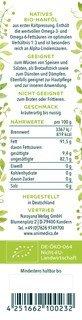 Bio Hanföl  500 ml (2x 250 ml) - von Unimedica