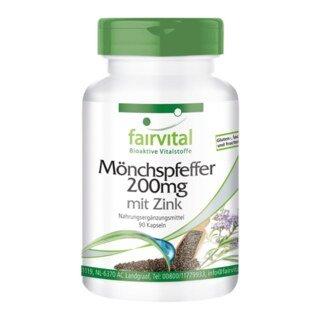 Mönchspfeffer 200 mg mit Zink - 90 Kapseln/