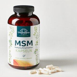 MSM - 800 mg hochdosiert - 365 Kapseln - von Unimedica