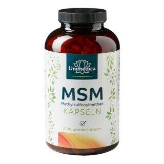 MSM - 800 mg hochdosiert - 365 Kapseln - von Unimedica/