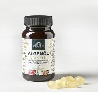 Huile d'algue en gélules - avec 250 mg de DHA - 60 gélules - par Unimedica