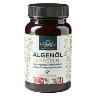 Algenöl Kapseln - mit 250 mg DHA - 60 Kapseln - von Unimedica/